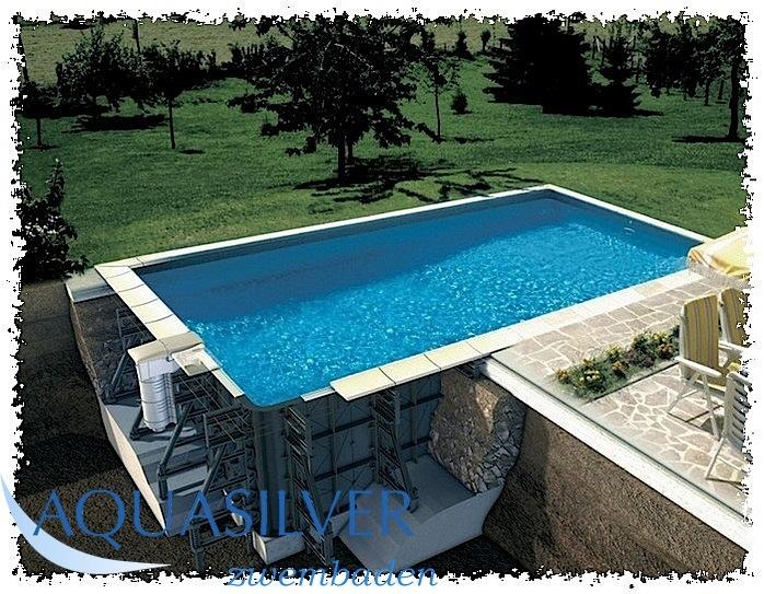 Polypropoleen zwembad for Zwembad rechthoekig met pomp