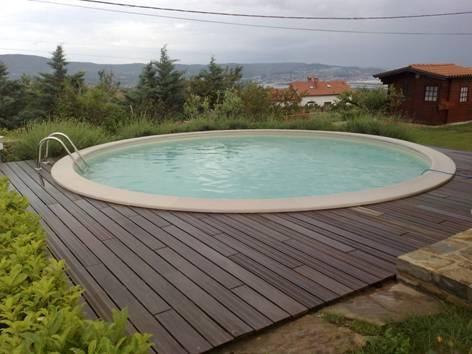 Rond zwembad for Zwembad voor in de tuin met pomp