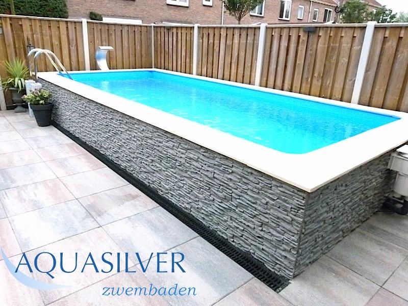 Zelfbouw klant alex vroom 2014 for Zwembad rechthoekig met pomp