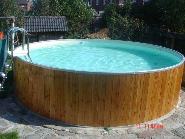 Zwembad rond 350cm x 90cm for Opbouw zwembaden